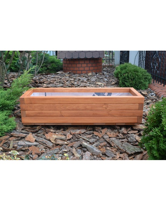 Donica drewniana - prostokątna duża 100/35/30