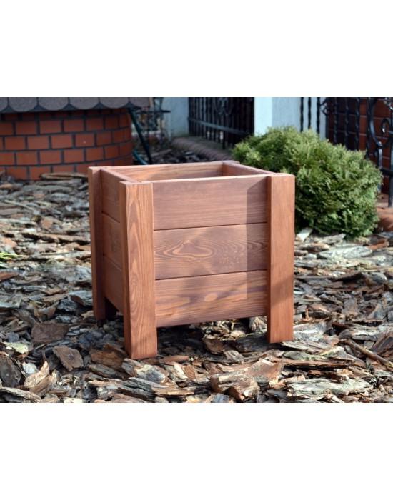 Donica drewniana - skrzynia - 40 cm