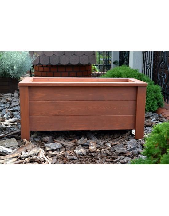 Doniczka drewniana z ramką - skrzynia 80 x 40 x 40 cm