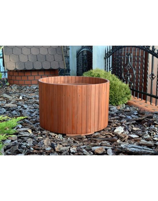Okrągła donica drewniana - 65 cm średnicy