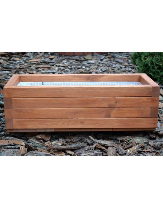 Donica drewniana - prostokątna - średnia 80/35/30
