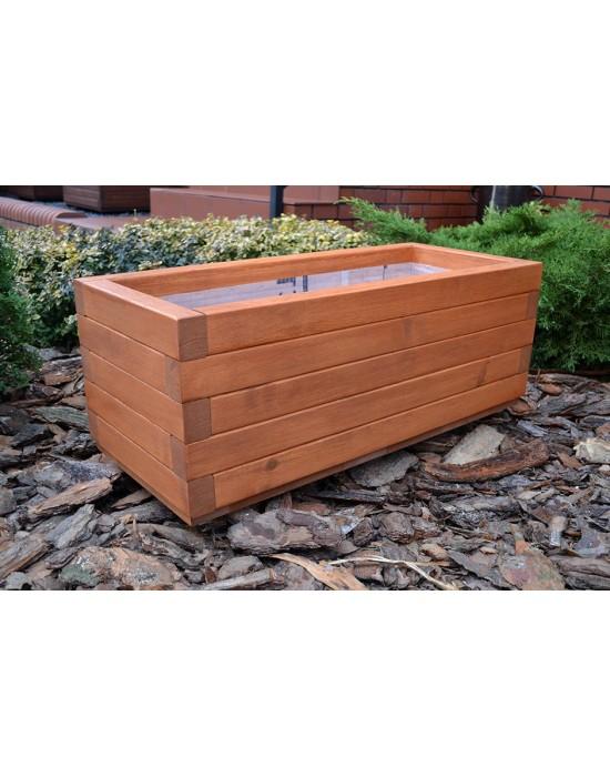 Donica drewniana - prostokątna wysoka 100/35/35
