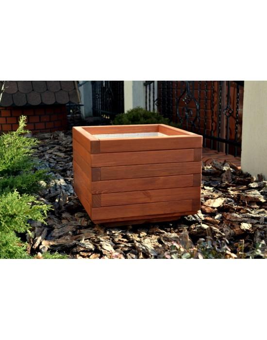 Doniczka drewniana - kwadratowa - 45x45x42
