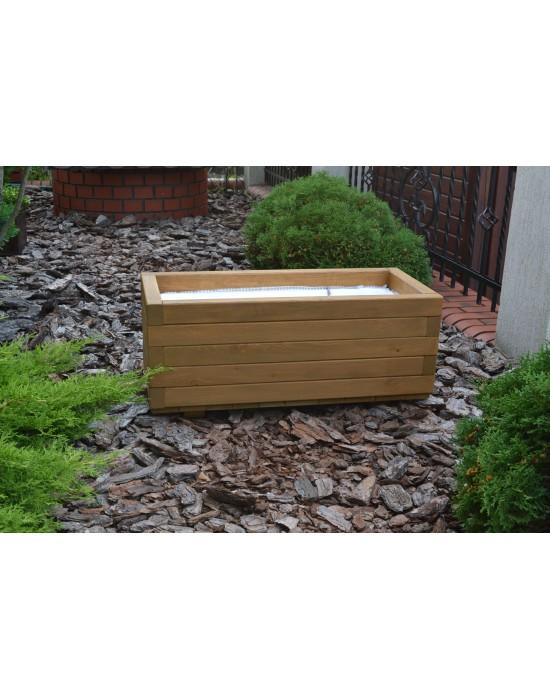 Donica drewniana - prostokątna - mała 50/35/35