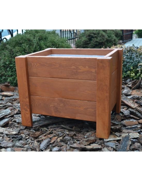 Doniczka drewniana - skrzynia 50 cm